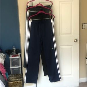 NWOT Adidas athletic pants with a zipper on side